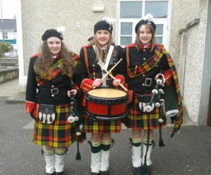 2015-03-15 13.32.30-1 New Pipe Band Member Lydia Murphy, with her sisters Kristen & Kaytlin