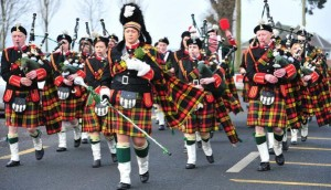 Millstreet Pipe Band at Ballydaly Mass - photo by John Tarrant