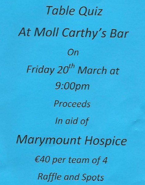 2015-03-20 Table Quiz in Moll Carthy's Bar