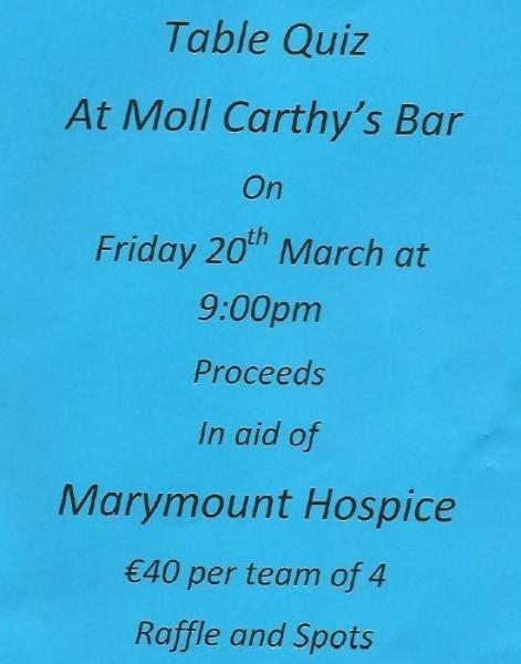 2015-03-20 Table Quiz in Moll Carthy's Bar