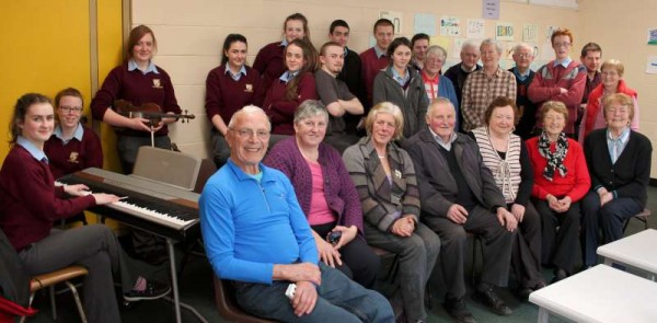 Continuing to celebrate St. Patrick's Week 2015 a most enjoyable afternoon was organised at Millstreet Community School where games, music and refreshments were shared by an intergenerational Group of enthusiastic participants.  Click on the images to enlarge.  (S.R.)