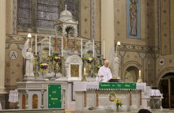Fr. James McSweeney celebrating the St. Patrick's Day eve Mass at St. Patrick's Church Millstreet on 16th March 2015.