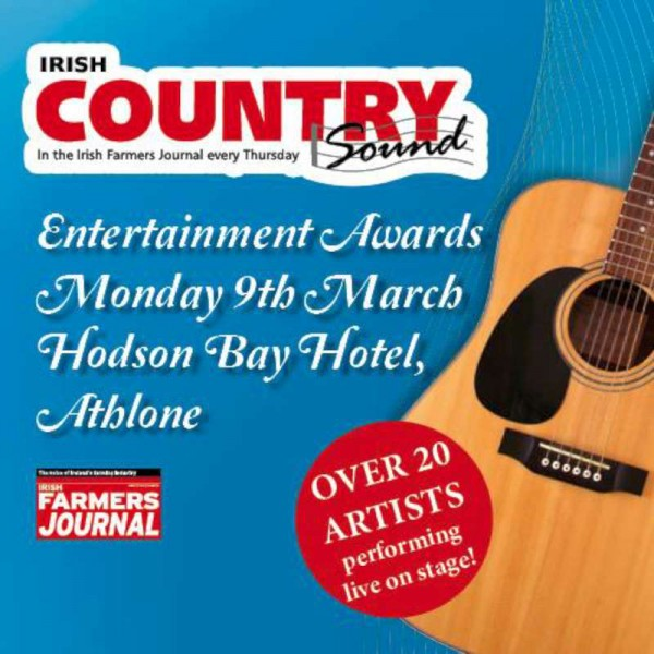 On this Monday, 9th March 2015 www.corkmusicstation will be broadcasting live from 7.30pm from the prestigious Irish Country Sound Awards which will be held in Athlone with MC Supreme - Michael Commins.   The Presenter Supreme on Cork Music Station is of course William Fitzgerald.  Happy Listening.  (S.R.)