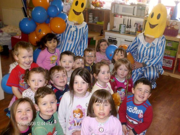 National Pyjama Day in Rathcoole Playschool. This year the chosen Charity was Irish Autism Action.. We would like to thank all the parents for their generosity.