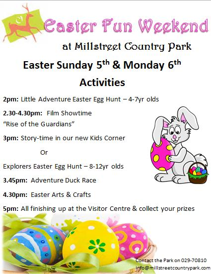 2015-04-03 Easter Sunday & Monday Fun activities at Millstreet Country Park
