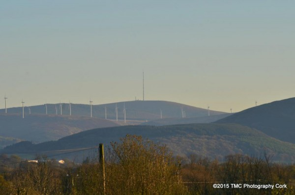 2015-04-21 Views from Guranne - by TMC Photography - 06 K&L, Mount Leader, Gneeves Windfarm, Mullaghanish (front to back)-1000