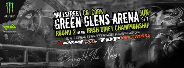 2015-04-27 Round 2 of the Irish Drift Championship in Green Glens - poster