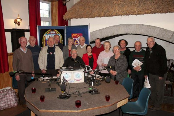 "Pictured at the recent recording of ""Round the Fireside"" with Jimmy Reidy at Freemount Heritage Centre where the theme was the launch of Bealtaine Festival 2015 coordinated by IRD Duhallow.  The programme is scheduled for transmission tonight (Monday, 27th April) on c103 at 9.50pm.  Happy Listerning!  Click on the images to enlarge.  (S.R.)"