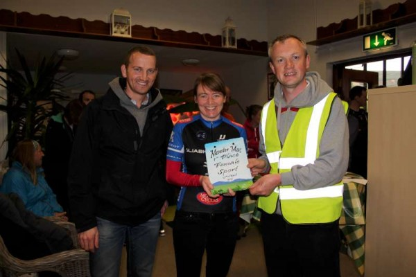 Presentation of Kate O'Keeffe's designed very impressive award to one of the wonderfully fit winners at Millstreet Country Park on Sat. 25th April 2015. Dedicated stewarding along the various cycle routes ensured safety and guidance. Click on the images to enlarge. (S.R.)