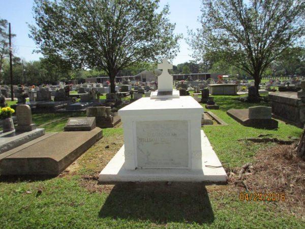 Private John Corcoran - grave in Lafayette, La. with his uncle William