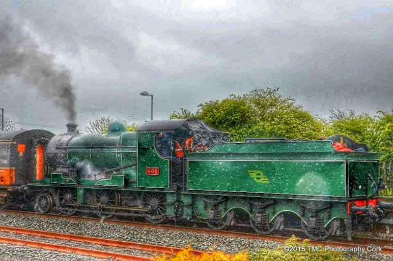 2015-05-10 Steam Locomotive #461 at Millstreet Reilway Station - photo by TMC Photography - 03