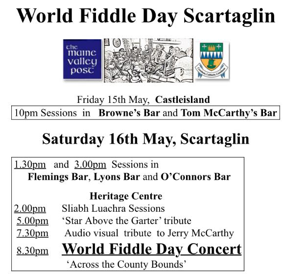 2015-05-16 World Fiddle Day Scartaglin - poster
