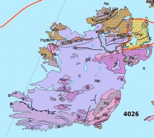 2015 Map of Geological Fault Lines of Ireland