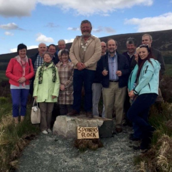 "Officially opening ""Speaker' Rock"" at Millstreet Country Park was Toastmaster President Liam Flynn."