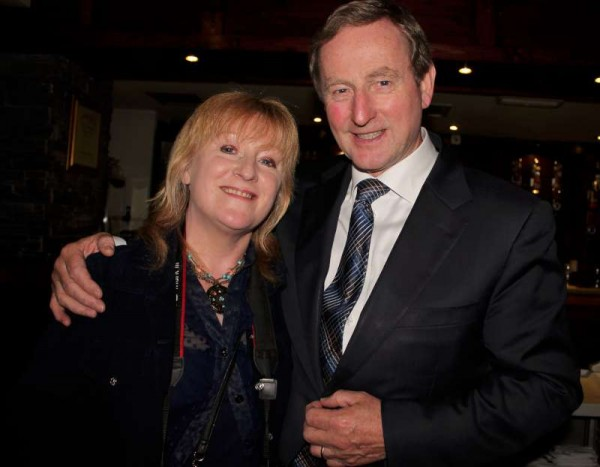 "We extend sincere thanks to Photographer Supreme, Sheila Fitzgerald pictured here with Taoiseach Enda Kenny, for superbly capturing many special moments of the Taoiseach's visit to Millstreet on Friday, 12th June 2015.  This coming week's ""Corkman"" will undoubtably feature many of Sheila's pictures of the important occasion. Click on the images to enlarge.  (S.R.)"