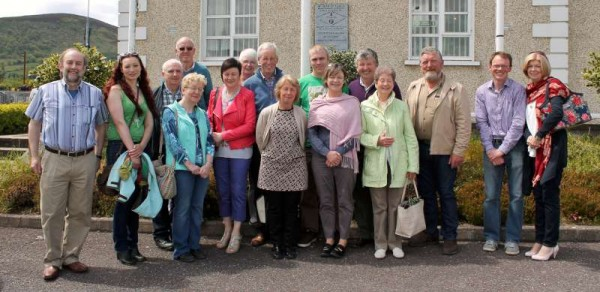 Mallow Toastmasters pictured on Sunday 7th June 2015 before visiting Millstreet Museum.  Liam O'Flynn (pictured below) was the supreme guide for the visitors as they called at Drishane, St.  Patrick's Church, Green Glens and Millstreet Country Park.  Click on the images to enlarge.  (S.R.)