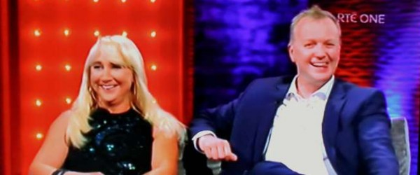 Aileen and Matt Cooper appearing on the Miriam O'Callaghan Show on RTÉ1 television on Sat. 27th June 2015.  Aileen Mum, Mary Hickie, is seen in the audience (on left at back).  This programme is repeated and is available on the RTÉ1 Player.   It was a most enjoyable interview.  Click on the images to enlarge.  (S.R.)