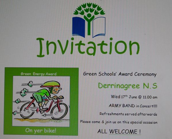 Green Flag in Derrinagree Poster