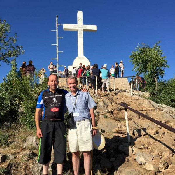 We extend sincere thanks to Tadhg O'Flynn  (on right) for having shared some 39 images of a recent Pilgrimage to Medjugorje in which many local people participated.  Click on the pictures to enlarge.  (S.R.)