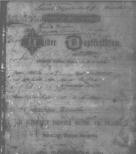 2015-07-09 Millstreet Parish Baptismal Register 1853 to 1865 - front cover