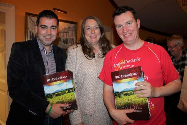 Pictured at the AGM of IRD Duhallow on Wednesday, 29th July 2015 at the James O'Keeffe Institute, Newmarket.  From left:  John Paul O'Shea, Cork Co. Mayor; Maura Walsh, CEO, IRD Duhallow and John Walsh of Aubane.  Click on the images to enlarge.  (S.R.)