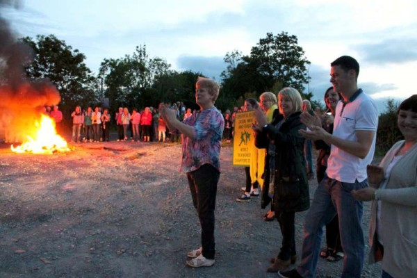 A mighty bonfire on the side of the road at Rathduane marked the truly historic occasion and a Piper from Cullen Pipe Band led the large gathering to a marvellous celebratory Party at the closeby home of Tim and Breeda Murphy and Family.
