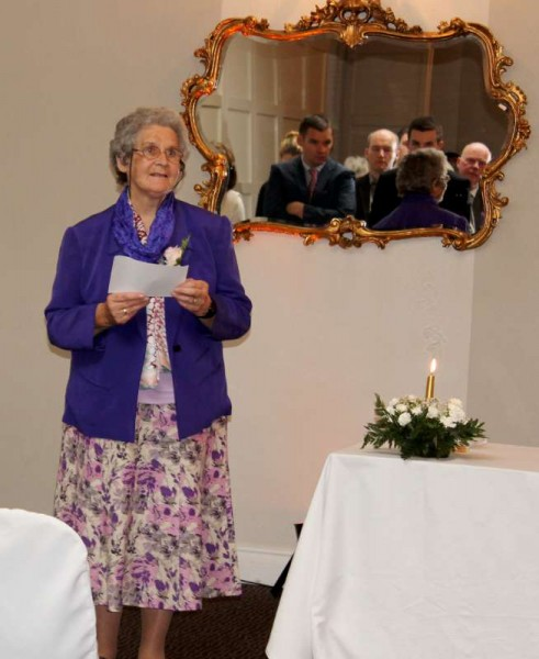 A wonderful celebration marking the Golden Jubilee of Sr. Mary Lucey as a Presentation Sister took place at Springfort Hall Hotel near Mallow on Sunday afternoon, 16th August 2015.   Among the attendance at the special Mass celebrated by Fr. Donal Lucey were members of Sr. Mary's own Family and Relatives as well as many of her Secondary School Class Friends.   Click on the images to enlarge.  (S.R.)
