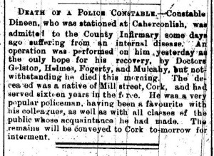 1897-08-17 Death of Constable Dineen in Limerick-600