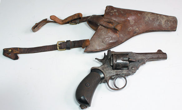 1914 Webley Revolver with holster made by PJ Murphy
