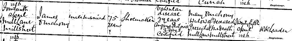 1916-04-14-death-of-james-omahoney-mill-lane