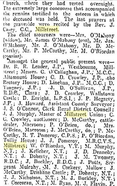 1916-04-24 Death of an old Millstreet Fenian 02