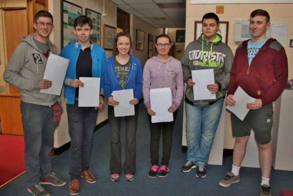 We share images of some of the Students having received their results of the Leaving Cert. 2015.   Above: From left: Conor Twomey, Conor O'Sullivan, Edel Breen, Marie Farrell, Krystian Wolak and Nathan Harman.  (All pictures by Seán Radley)