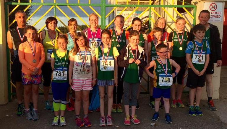 2015-08-11 Millstreet runners after receiving their medals at gneevguilla this evening_