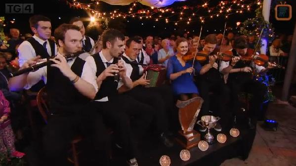 2015-08-16 Shandrum Céilí Band who just gave a superb performance after their victory on TG4 - includes Tadgh O'Sullivan of Millstreet Pipe Band 03