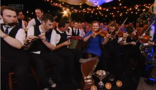 2015-08-16 Shandrum Céilí Band who just gave a superb performance after their victory on TG4 - includes Tadgh O