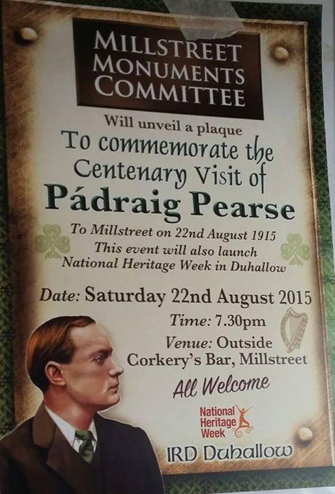 2015-08-22 Pádraig Pearse memorial plaque unveiling - poster