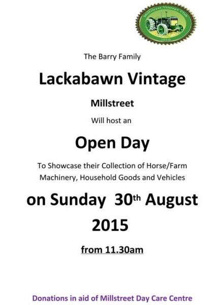 2015-08-30 Lackabawn Vintage Open Day - poster