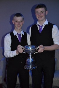 2015-08-23 Congratulations to Daniel O' Callaghan (Rathcoole) and Darren Kiely (Millstreet) members of the U18 Crossfields Céilí Band Freemount that won at Fleadh Cheoil na hÉireann