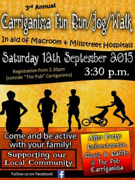 2015-09-12 Carriganima Fun Run Walk - poster