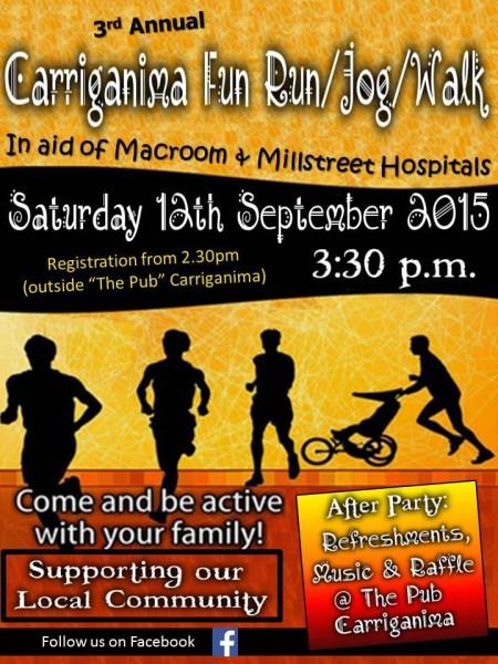 2015-09-12 Carriganima Fun Run Walk - poster