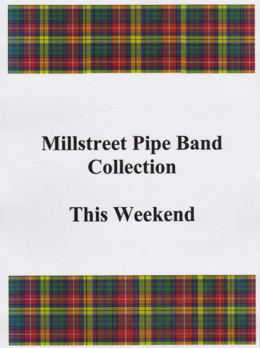 2015-09-18 Millstreet Pipe Band Church Gate Collection - notice