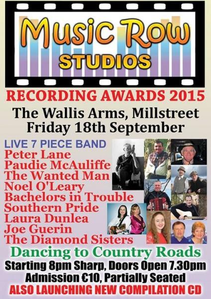 2015-09-18 Music Row Studio Recording Awards 2015 - poster