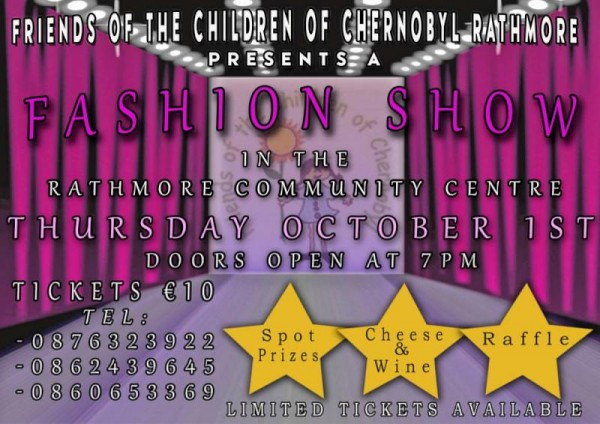 2015-10-01 Fashion Show for Friends of the Children of Chernobyl Rathmore - poster