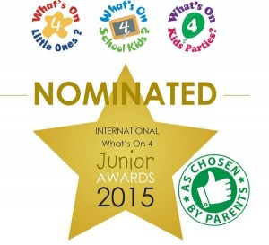 2015 - Baby Massage Classes - nominated for What's on 4 Junior Awards