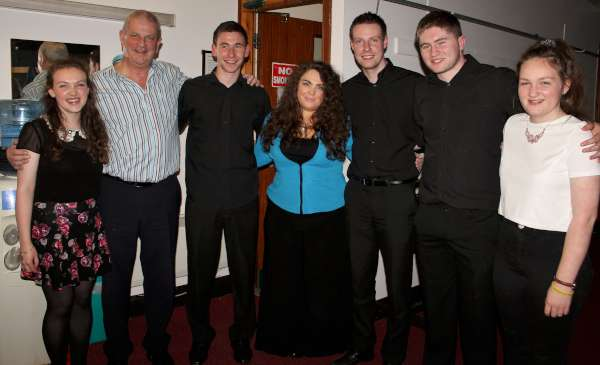"Annmarie O'Riordan (centre) with her magnificent musicians pictured at the Briery Gap Theatre, Macroon on Saturday night where a capacity audience enjoyed a totally superb Show of excellent music and song within a truly delightful atmosphere. We shall be referring to this great performance tonight during ""Radio Treasures"" from 9.30 to 11.00. Click on the images to enlarge. (S.R.)"