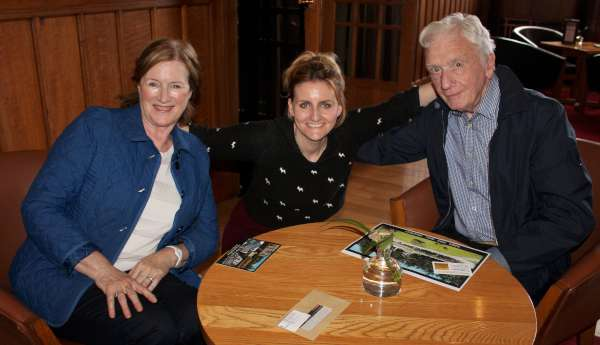 "Dominic McSweeney with his wife Teresa and Cousin Claire Galvin pictured recently at the Clarence Hotel, Dublin where we recorded a very special interview with Dominic in which he recalled many wonderful memories of the""Star"" Ballroom. We shall feature this on ""Radio Treasures"" at 10pm on next Tuesday on Cork Music Station. As a mark of respect to the late Clare Hickey we are deferring tonight's interview until next week. We extend sincere sympathy to the Hickey Family on the sad departure of Clare who has enriched all our lives. Ar dheis Dé go raibh a hanam uasal. (S.R.)"