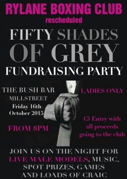 2015-10-16 Rylane Boxing Club- Fifty Shades of Grey Fundraising Night - poster_
