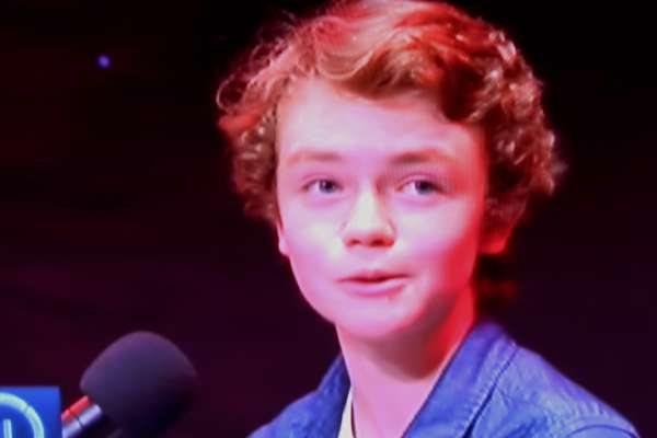Watch out for Aidan McCaul's grandson - Eoin (son of Aodán and Mary) in tonight's TV3 Toy Show. (20th Nov. 2015). The programme begins at 8pm and continues until 9.30pm. Eoin's magnificent singing was recently heard on the TV3 Audition Show. The pictures are still images from that programme. Click on the pictures to enlarge. (S.R.)