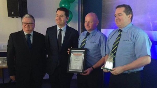 2015-11-02 Millstreet Awarded Best Railway Station in Munster - with Michael Mullane