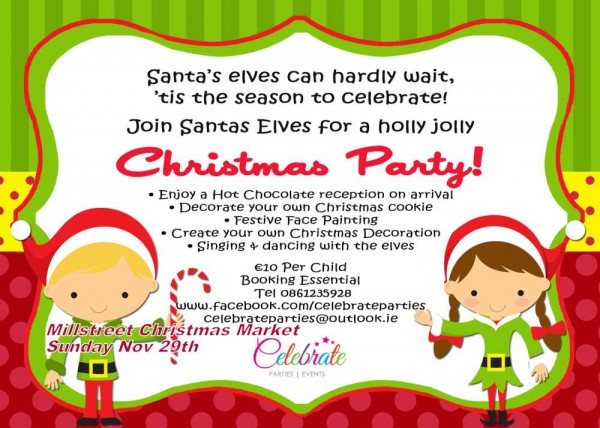 2015-11-29 Christmas Party Invite - Millstreet Christmas Market